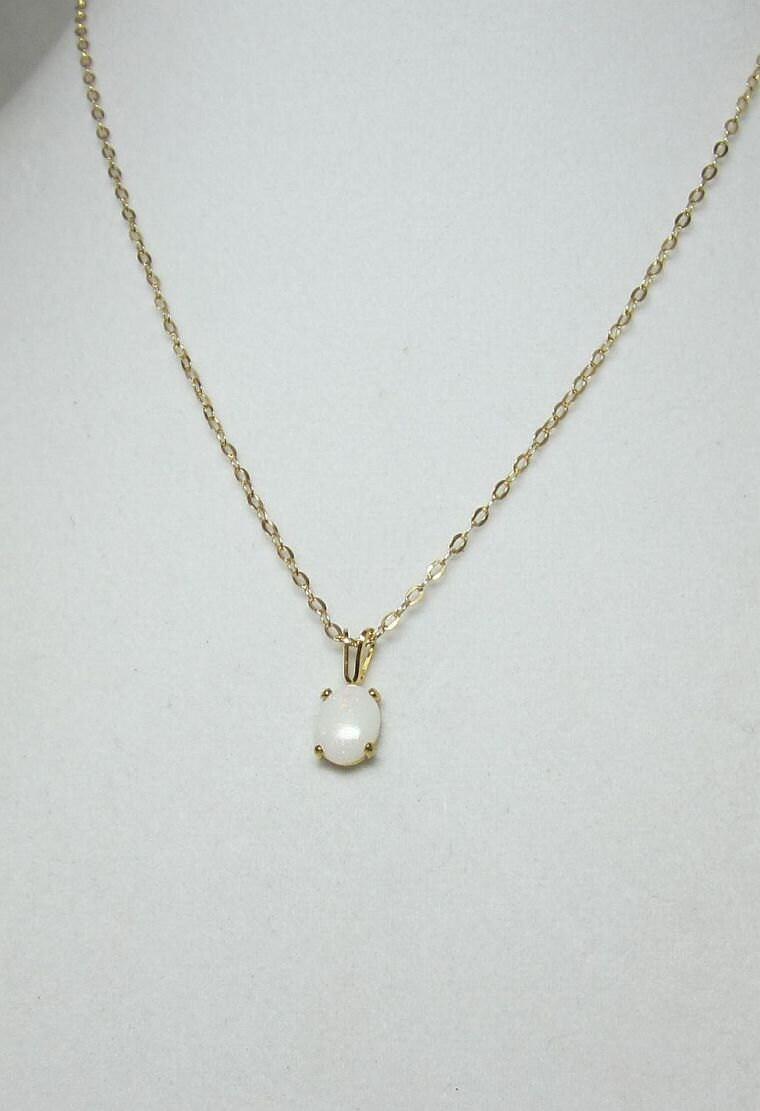 australian opal pendant necklace set in 14kt gold