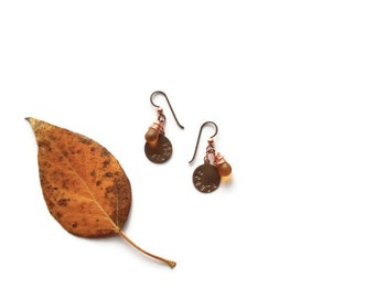 create earrings // mustard yellow glass bead jewelry