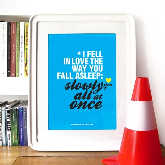The Fault in Our Stars quote inspired by John Green's novel - A3 Poster print -The fault in our stars