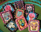 DAY of the DEAD Mexican Sugar Skull Wafer Papers for Cookies - Dia de los Muertos Edible Images for Biscuits