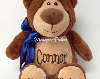 Personalized, Monogrammed Plush Soft Toy Teddy Bear Baby Gift