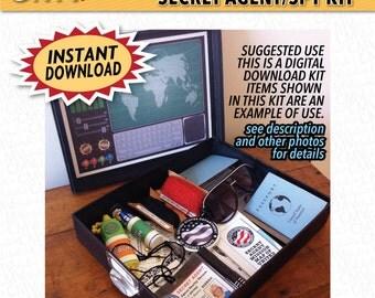 spy kit etsy. Black Bedroom Furniture Sets. Home Design Ideas