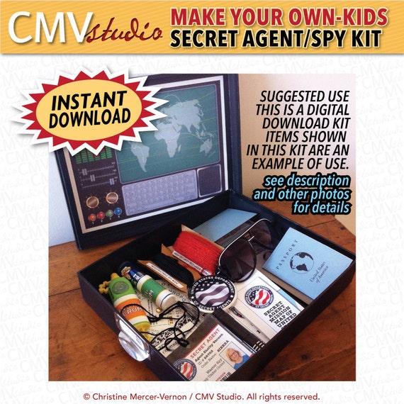 Diy Printable Make Your Own Customizable Kids Secret Agent