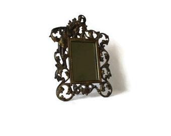SALE  Art Nouveau Mirror  Vanity Dressing Table Easel Back 1880 - 1910 Gilt Metal