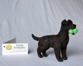Felt Labrador Retriever: CUSTOM PET PORTRAIT To Match Your Lab