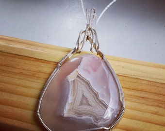 Agate Necklace Set in Sterling Silver