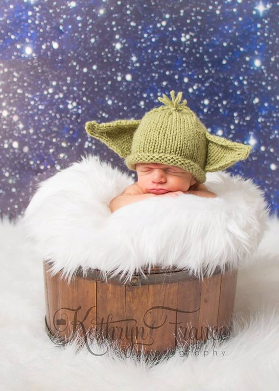Baby Yoda Hat Photo Prop Knitted Made To Order