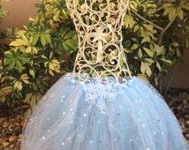 Frozen Party Favors, Frozen Tutu, Frozen Costume, Elsa Tutu, Elsa Costume, Snowflake Tutu, Elsa Tutu, Blue Tutu Skirt, Disney Frozen Favors,