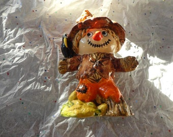 Vintage Ceramic Scarecrow
