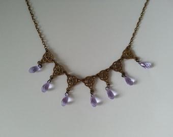 Game of Thrones Sansa Purple Wedding Necklace