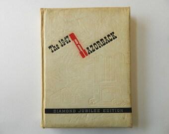 1947 Razorback Yearbook, Diamond Jubilee Edition