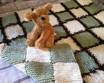 Custom Knit-n-Knot Baby Blanket