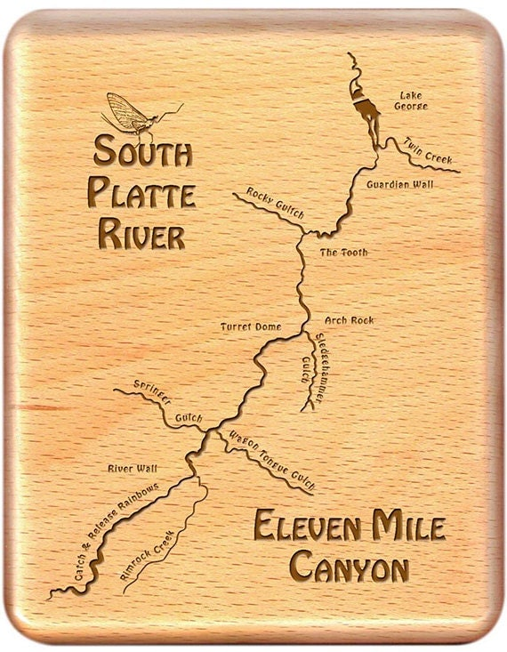 Eleven Mile Canyon South Platte River Map Fly By