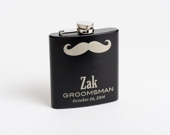 Personalized Flask, Groomsmen, Best Man Gift, Whiskey Flask, Engraved Hip Flask, Etched Flask, Usher, Gift for Men, Bridal Party
