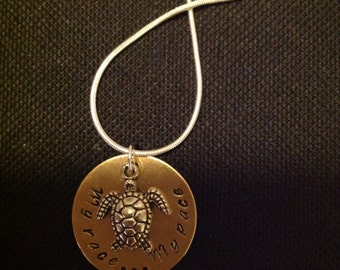 Personalized My Race My Pace Charm Necklace