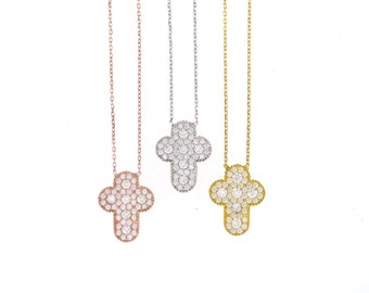 Puffy Cross Necklace