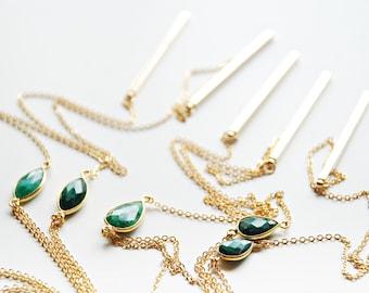Lariat Necklace - Emerald