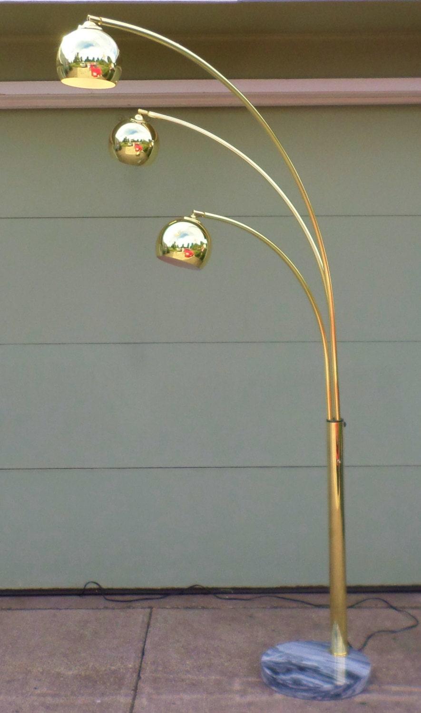 1970 S Vintage Arc Lamp Floor Lamp Spider Lamp 3 Arm