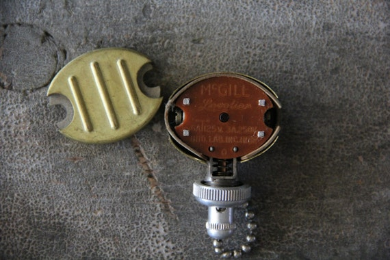 Vintage Mcgill Levolier Pull Chain Fan Light Switch