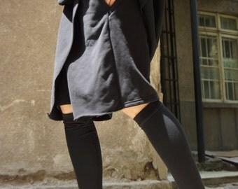 NEW Loose Casual Shorts / Black Drop Crotch Harem  Pants / Extravagant Black Pants/Unisex Cotton Pants A05134