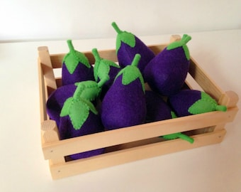 Pretend Play Felt Food Vegetable Egg Plant