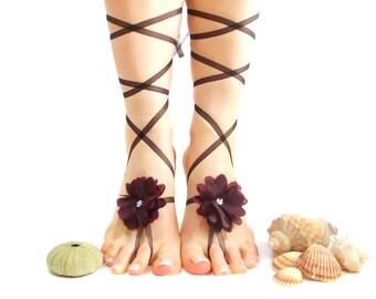 Barefoot sandals, Wedding Barefoot Sandal Anklet, Bangle, Romantic Beach Wedding Extraordinary