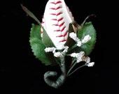 Baseball Rose Sport Bud  Boutonniere