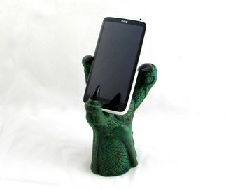 Ceramic Dragon Claw Cell Phone Holder - 7 inches
