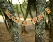 Halloween Trick or Treat Burlap Banner