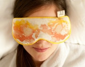 Yellow Eye Pillow, can be heated and frozen