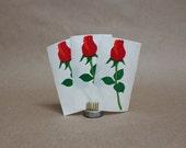 Vintage Mrs. Grossman's Rosebud Stickers Circa 1990- Set of 3- Vintage Paper Ephemera