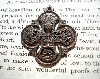 First Communion- Bronze or Sterling Silver - Chalice - Eucharist - Religious Medal - Made in the USA (M64-1143)