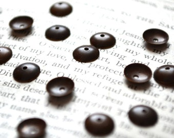 7 mm Plain Bead Caps - SET of 20 - Bronze - Vintja Natural Brass