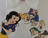 Deluxe  Snow White And The Seven Dwarves Handpainted Hairbow