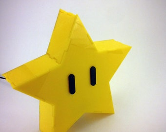 Super Mario Brothers Star Lamp
