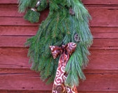 Real Pine LAST CHANCE Ships between Dec. 16-19 Horse Head Wreath Christmas Holiday Friesian Horsehead Swag Decor Barn Gift