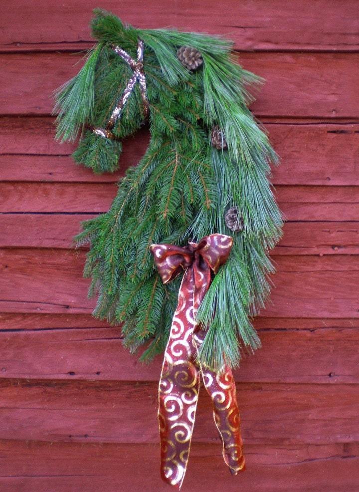 Head Wreath Name Horse Head Wreath Swag by