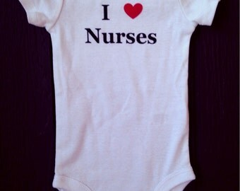 I heart nurses bodysuit