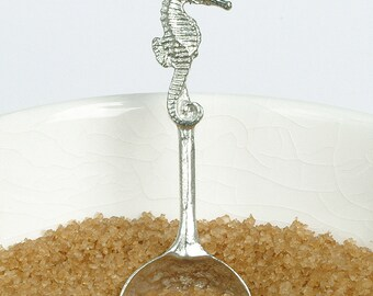 Seahorse sugar spoon UK made Seahorse gifts, seaside gifts
