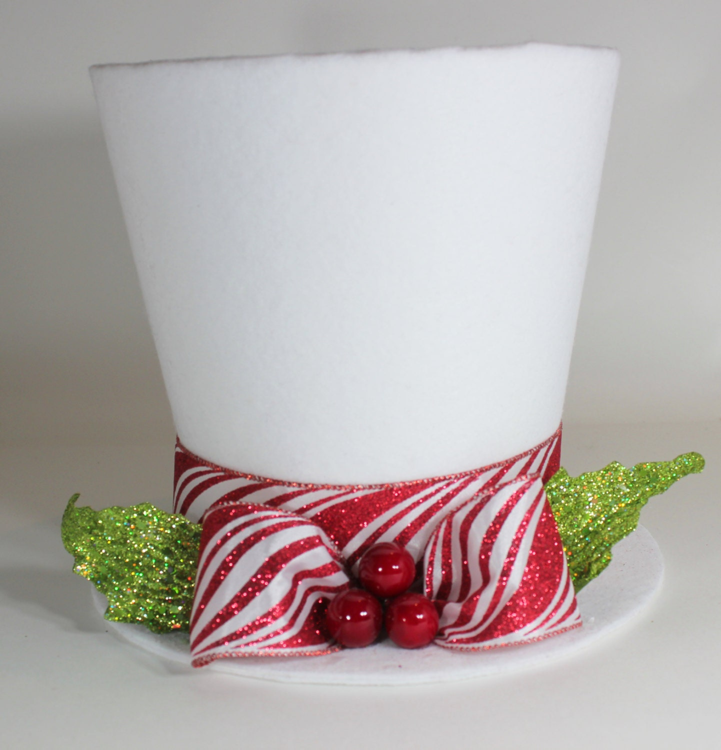 Santa Hat Christmas Tree Topper: Christmas Tree Topper White Christmas Hat Christmas Tree