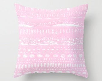 Pastel Pink Throw Pillow Cover, pastel pillow cover, pink pillow cover, pastel pink pillow, throw pillow cover, nursery throw pillow