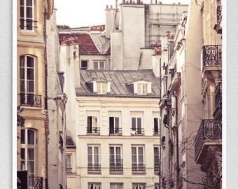 Paris photography - Rue Hérold  - Paris facade,Paris photo,Fine art photography,Paris decor,8x10,white,Fine art prints,Art Posters