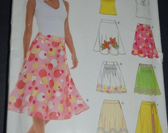 New Look 6569 Misses Top and SKirt Sewing Pattern - UNCUT - Sizes 8 -18