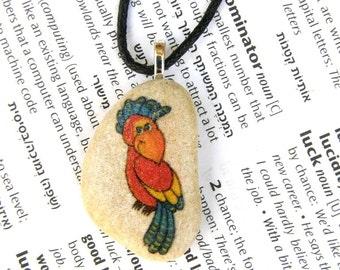 Parrot necklace parrot pendant parrot Jewelry parrot necklace tropical necklace summer necklace Mediterranean jewelry exotic necklace exotic