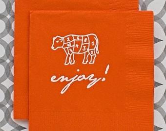 BN1205 - enjoy beverage napkin, 40 ct.