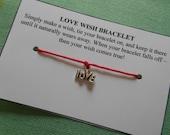 Love - Wish Bracelet - Choose your color