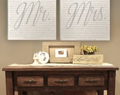 Mr. and Mrs Wedding Vow Canvas Art Square