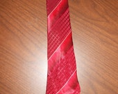 Vintage 1920's - 1930's men's cravat neck tie-  check the photos for color combination, brand tag, and condition.
