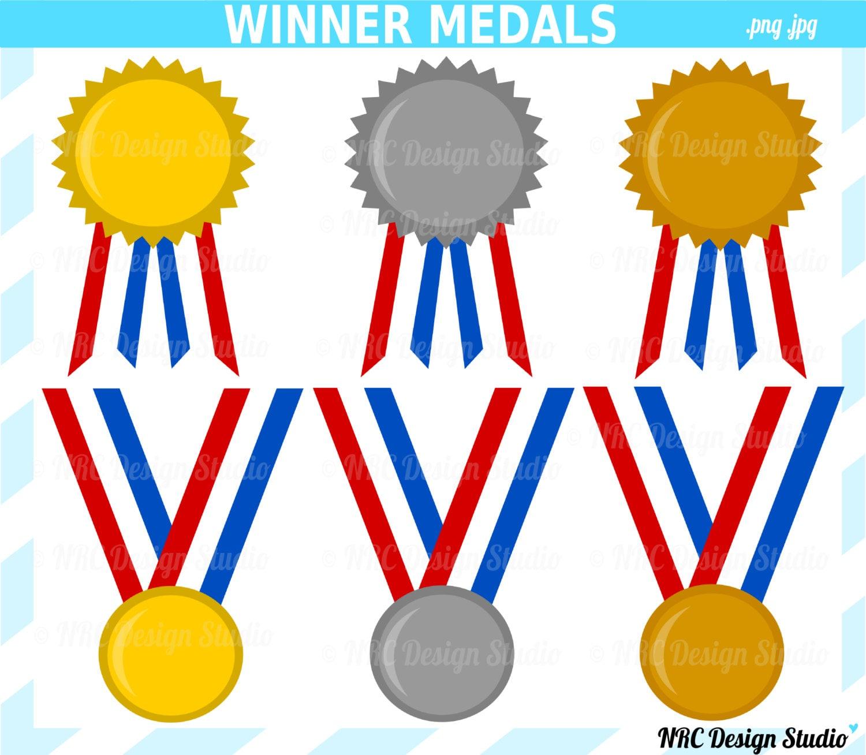 Winner Medals Clip Art School Sports Gold by NRCDesignStudio
