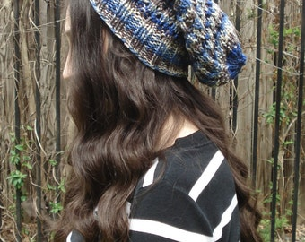 Blue/Brown/Tan Ribbed Hat